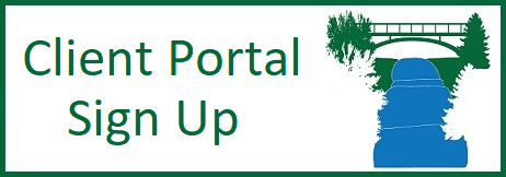 Button to sign up for Client Portal